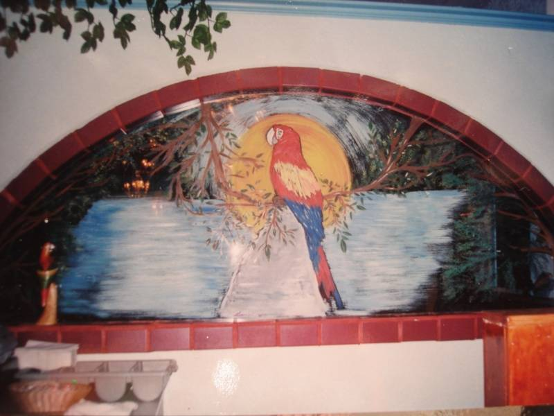 Tucan in a Mexican restaurant