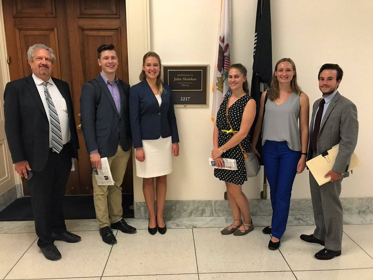 Meeting with Intern Zane at Rep. Shimkus of Illinois' office