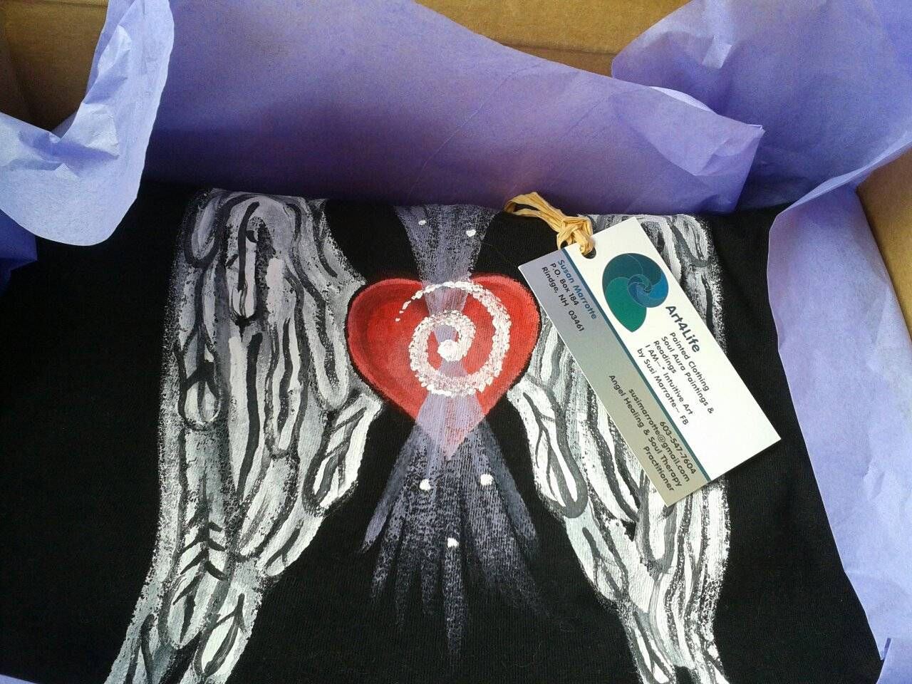Heart Wings on Black