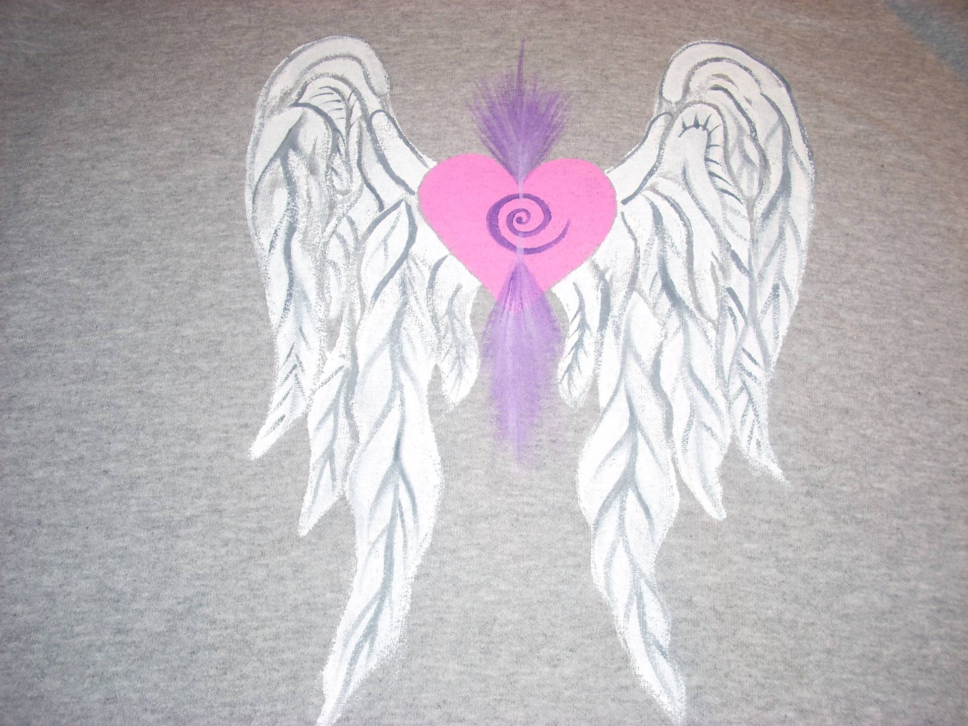 Heart Wings on Gray...