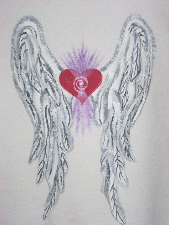 Heart Wings on White