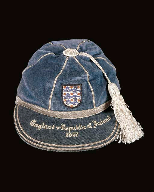 Norman Taylor's England Football Cap v Republic of Ireland 1957