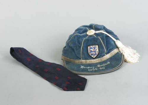 Dennis Viollet's England International Football Cap v Hungary 1959