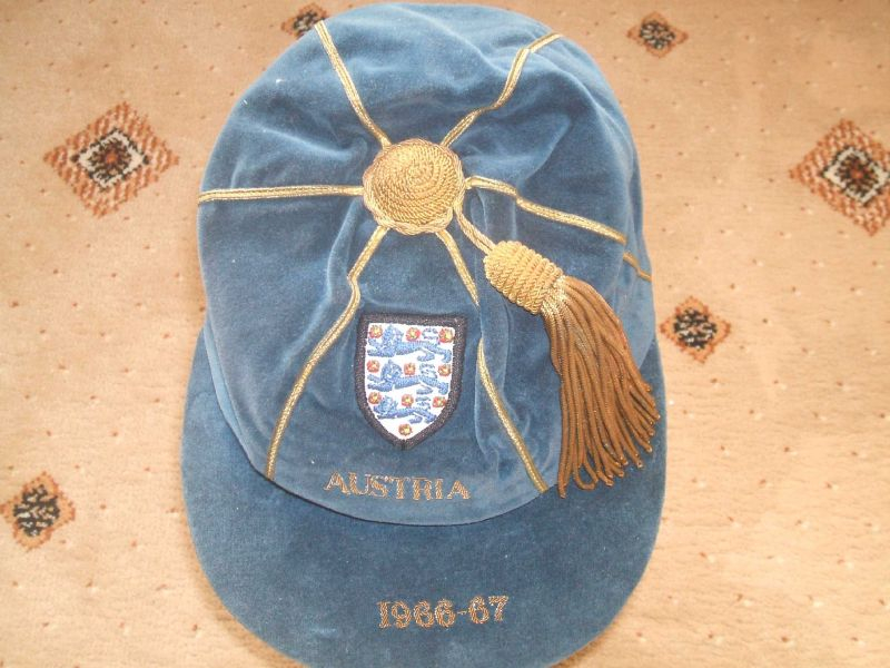England U23 International Football Cap v Austria 1966