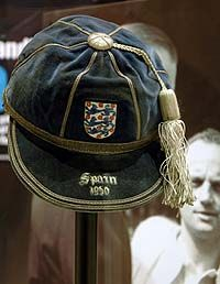 Sir Stanley Matthews' England International Football Cap v Spain 1955