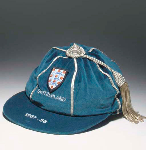 Neil Webb's England Football Cap v Switzerland 1987-88