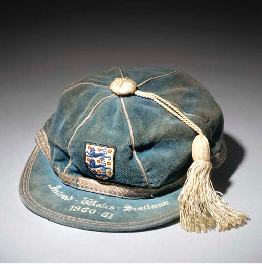 Peter Swan's England Football Cap v Ireland, Wales & Scotland 1960-61