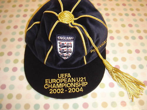 England Under 21 Football Cap v Portugal 2002-2004