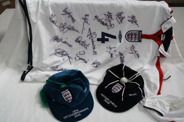 England Youth Football Caps