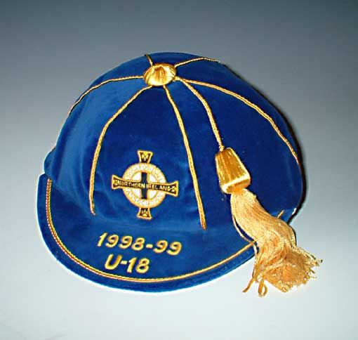 Northern Ireland U-18 football cap 1988-89