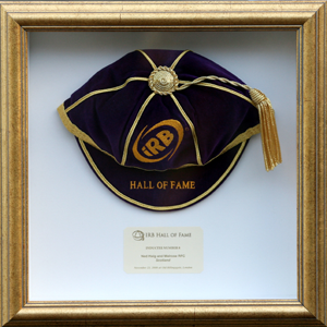 IRB Hall of Fame Rugby Honours Cap