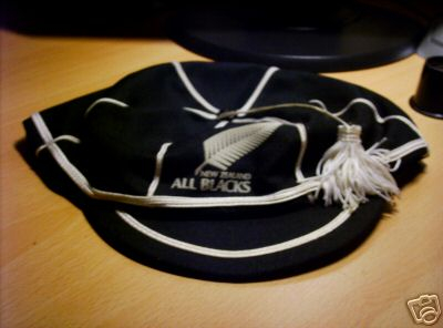 New Zealand All Blacks International Rugby Cap