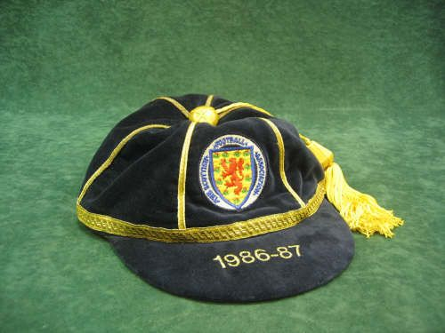 Dave Cooper's Scotland International Football Cap 1986-87