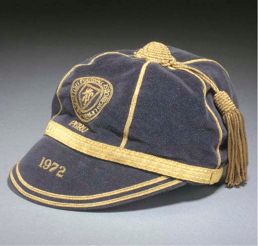 Willie Morgan's Scotland Football Cap v Peru 1972