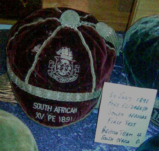 Rugby Cap South Africa 1891