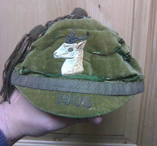 South Africa Springboks Rugby Cap 1906
