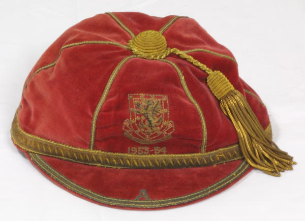 Trevor Ford's Wales Football Cap 1953-54 season