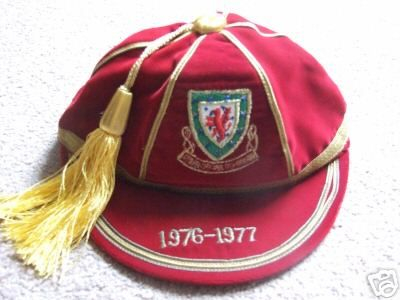 Malcolm Page's Wales International Football Cap 1976-77 season