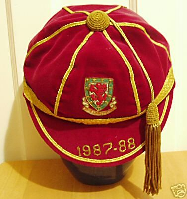 Wales International Football Cap 1987-88 season