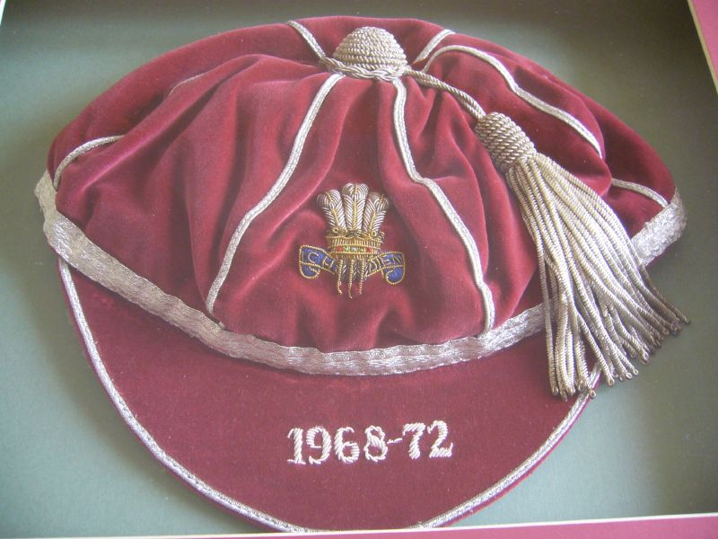 Ray 'Chico' Hopkins' Wales International Rugby Cap 1968-72