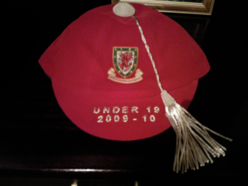 Lee Lucas' Welsh Under 19 Football Cap 2009-10