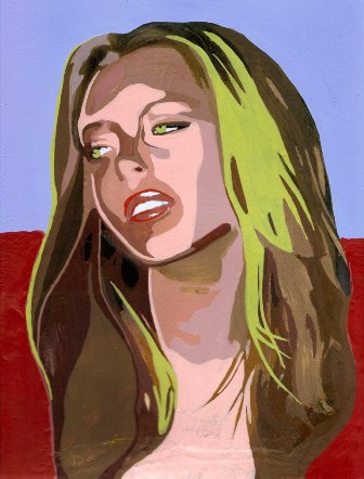 She is as tedious as these bland acrylic colours! (Lindsay Lohan)