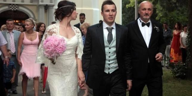 Na vjenčanju rukometnog reprezentativca Manuela ?trleka i Ine