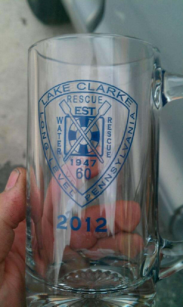 2012 Lake Clarke Rescue Beer Mugs...