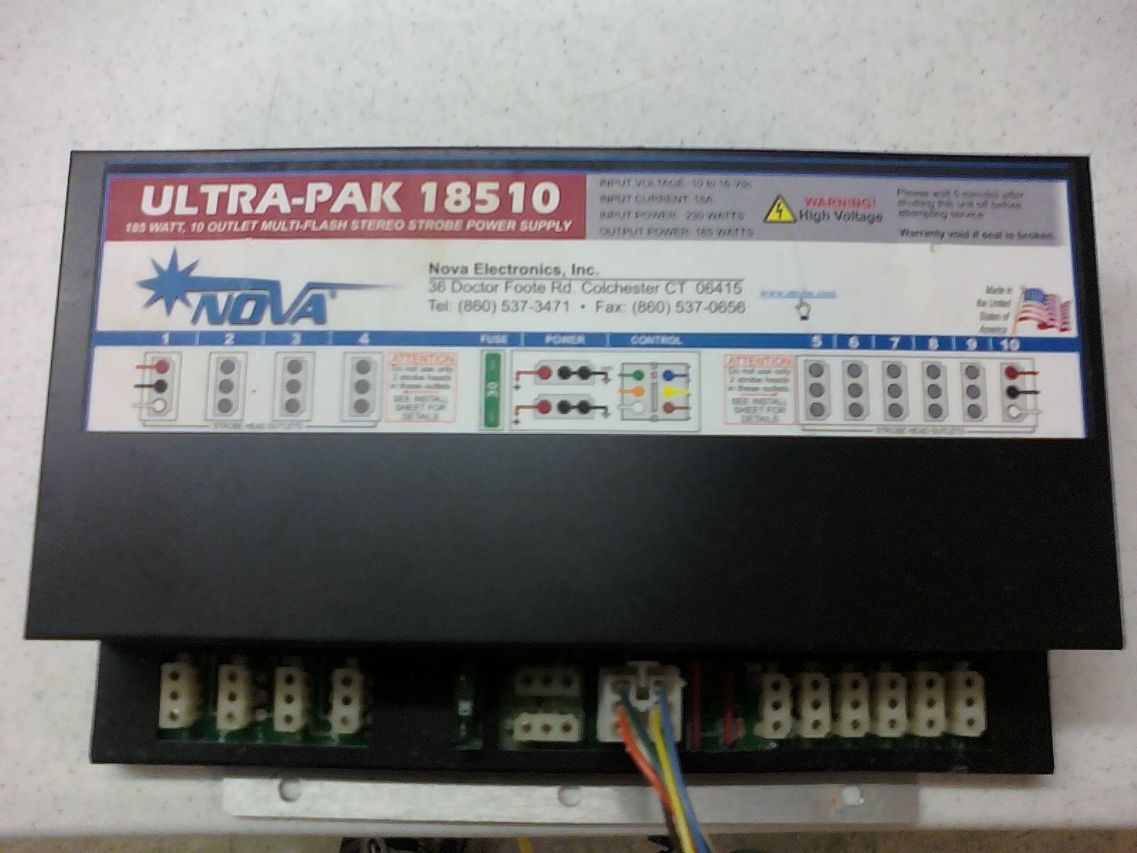 1-Nova Ultra-Pak 18510 Strobe Power Supply.
