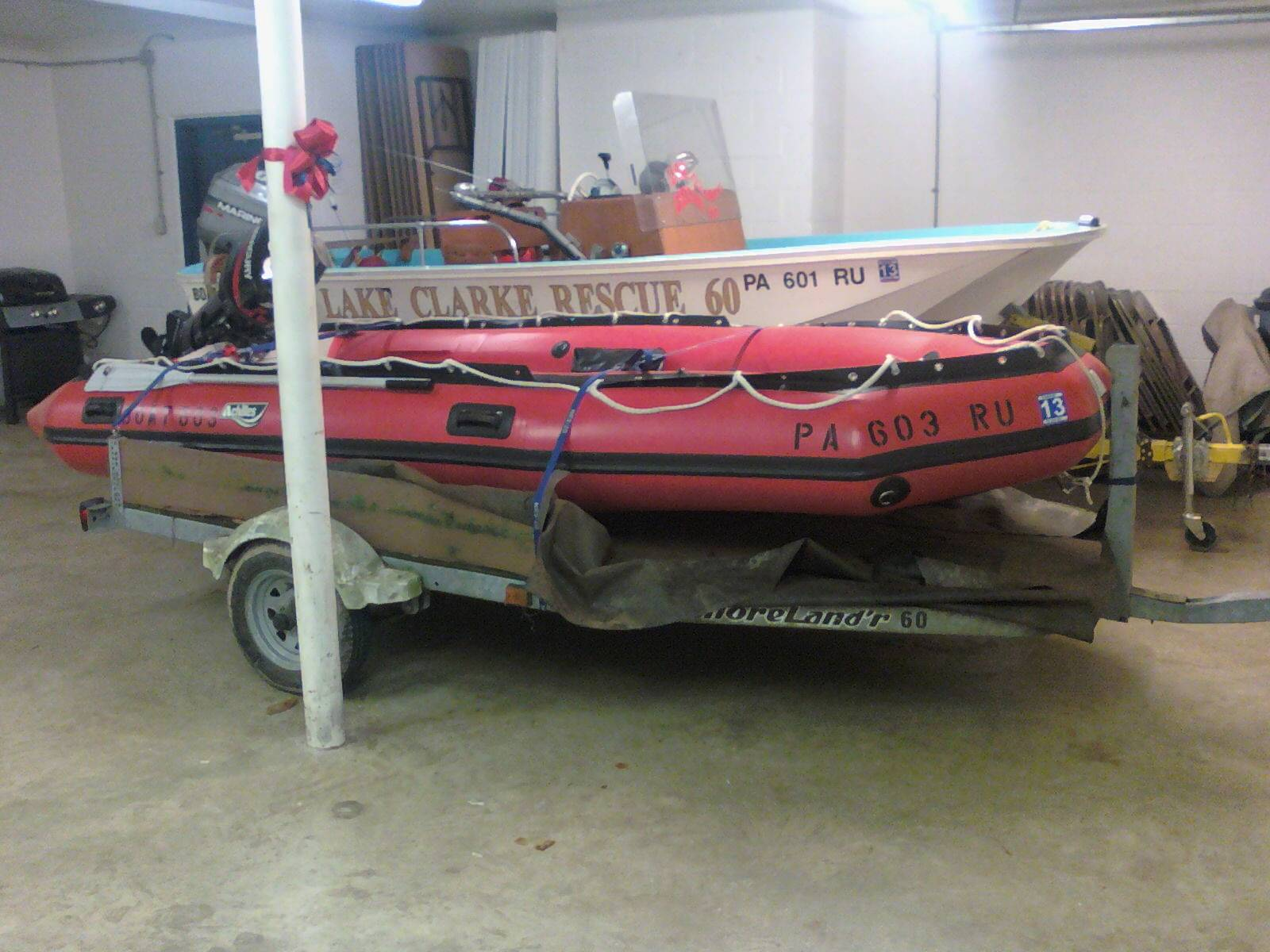 "Lake Clarke Rescue prepares for Hurricane ""Sandy""..."
