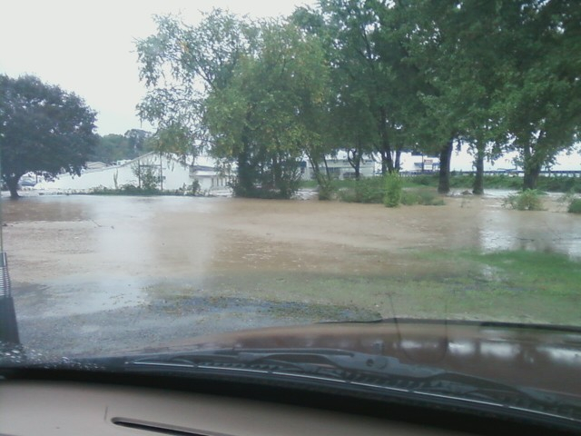 Station 60 threatened by Flood Waters--09/07/2011