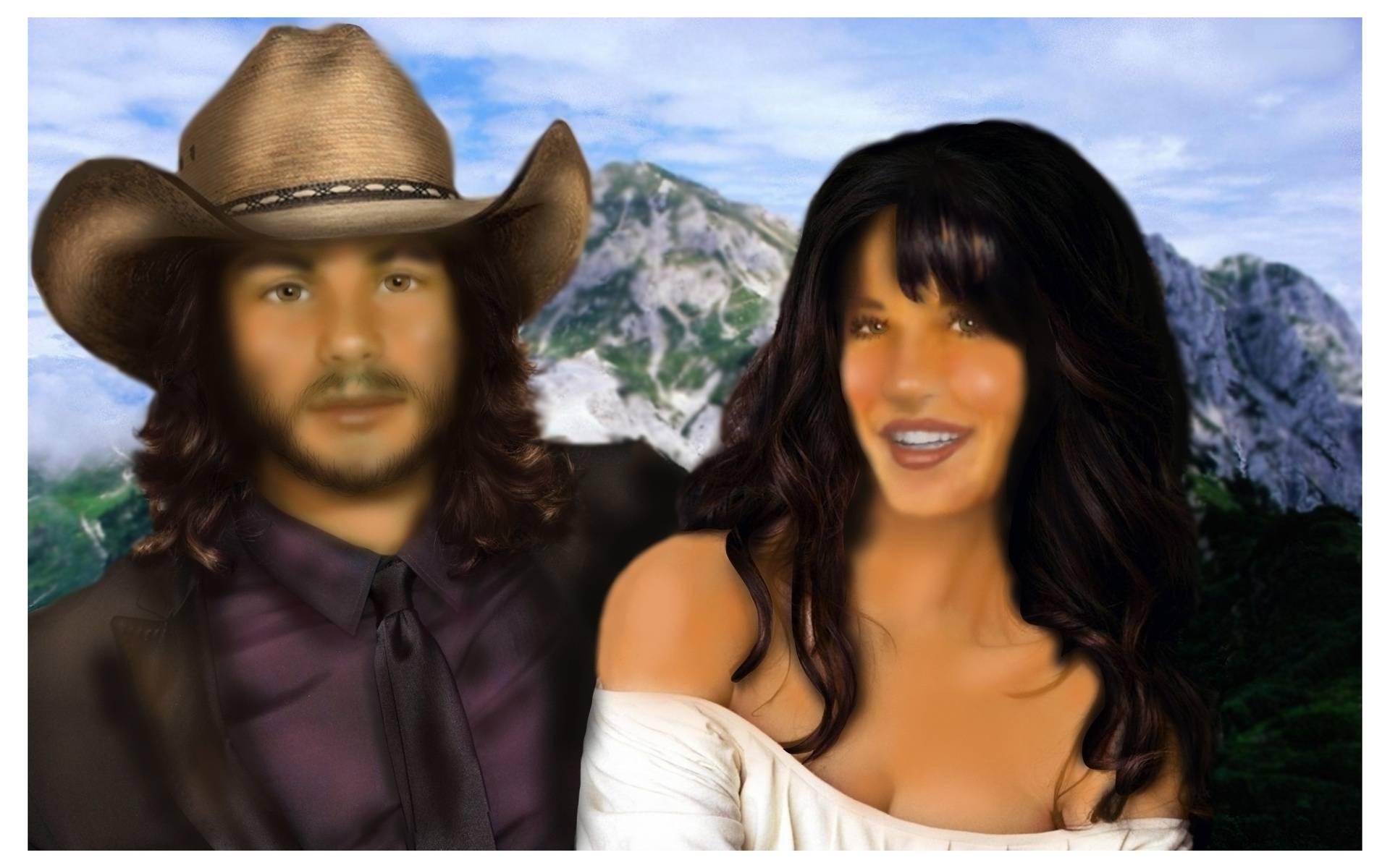 Cow Hip (Cowboy-Hippie) and his Girl