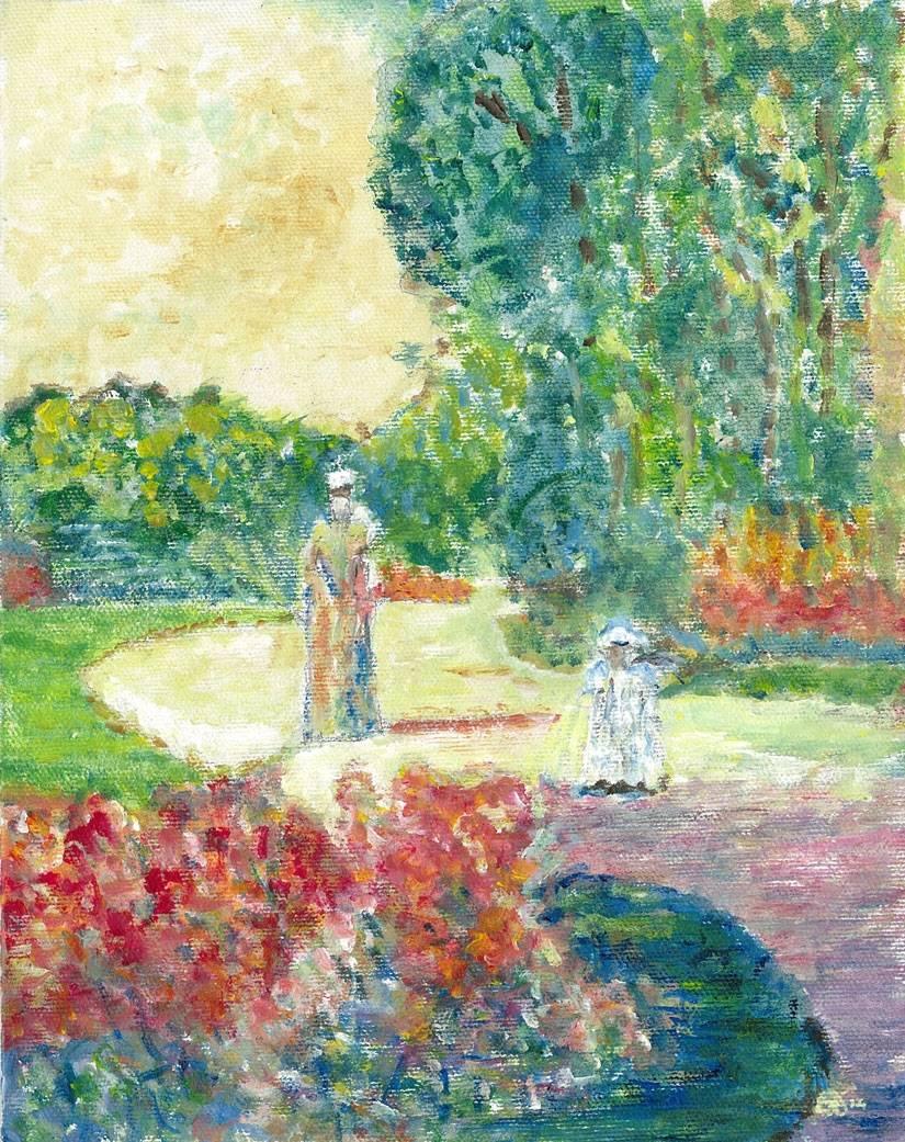 Childe Hassam Parc Monceau by Monet