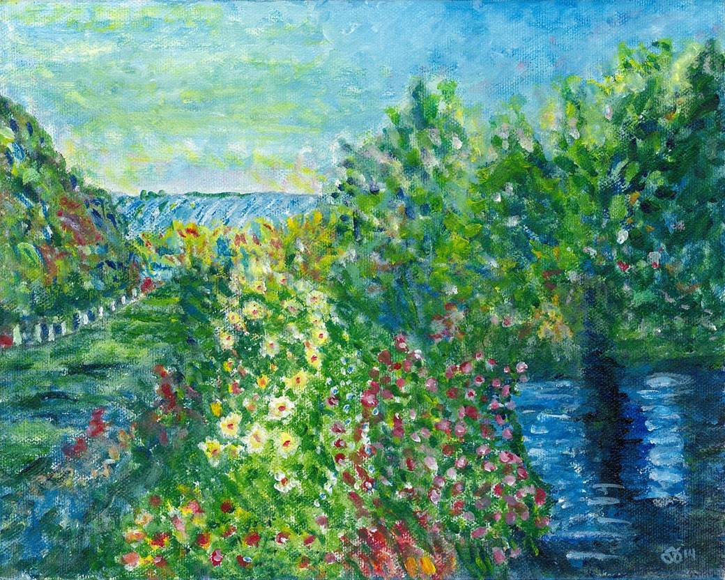 Interpretation of Corner of the Garden at Montgeron by Monet