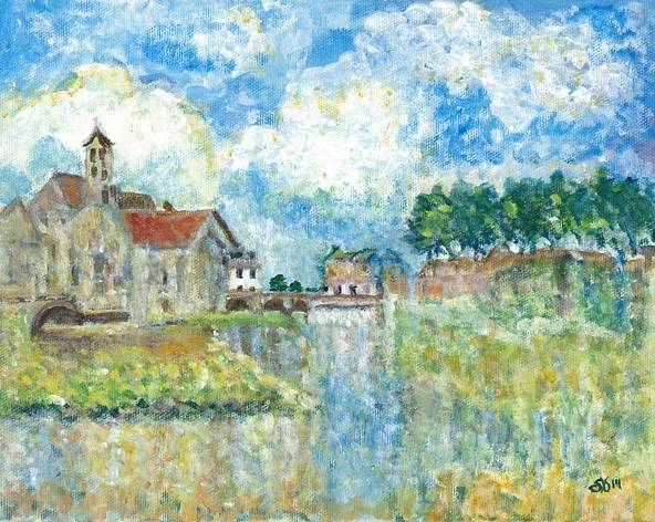 Interpretation of Moret-Sur-Loing by Alfred Sisley