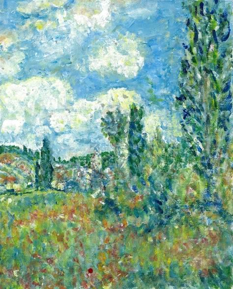 Interpretation of Path Through the Poppie Ile Saint Martin Vetheuil by Monet