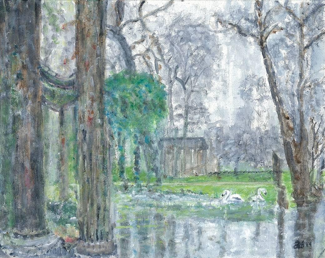 Swans at Parc Monceau - Paris, France
