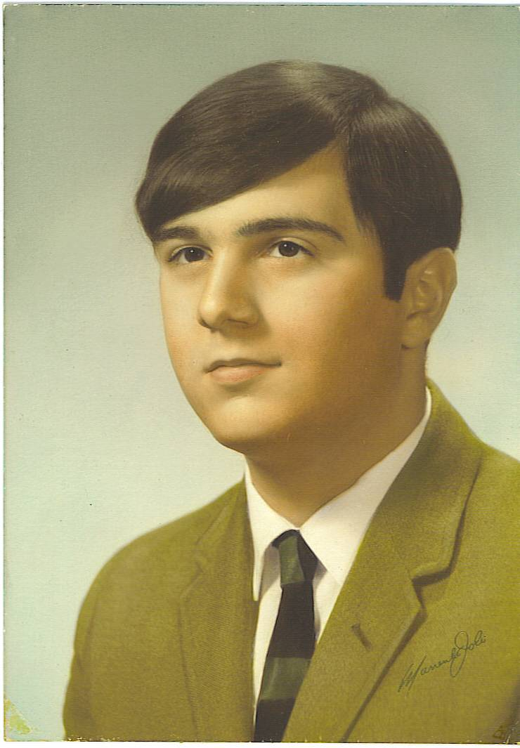 Senior Year High School yearbook photo