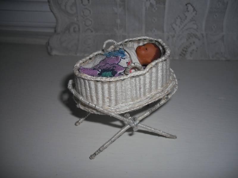 Handmade wicker crib