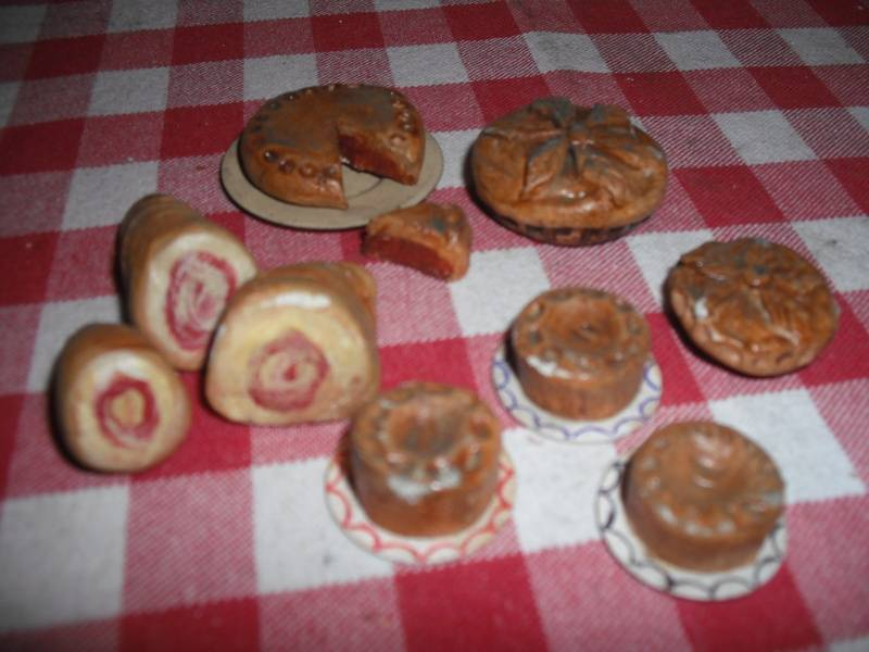 Meat and pies.