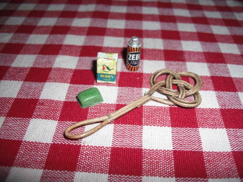Carpet beater, plus cleaning products