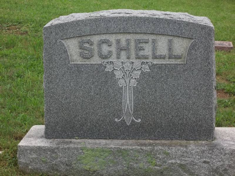 The family stone for Elwood and Gertrude Schell