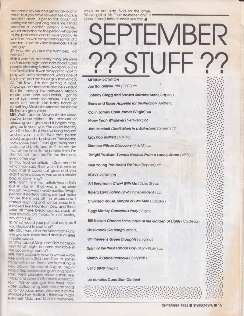 Stereo-Type September 1988 page 3