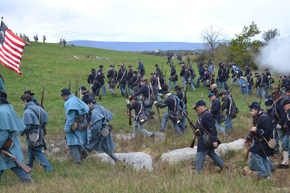 Charging the Confederate Line
