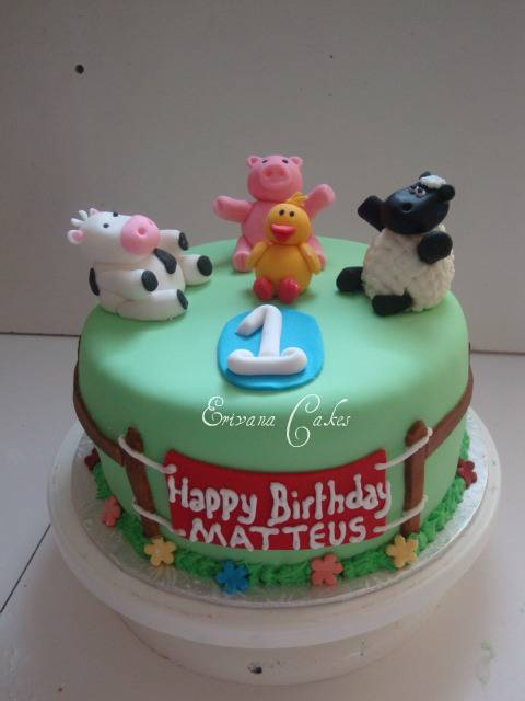 Farm Animals Cake 1 (B044)