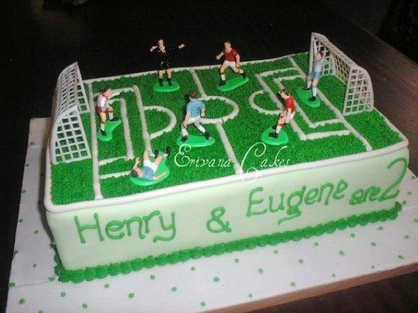 Soccer Field Cake (B126)
