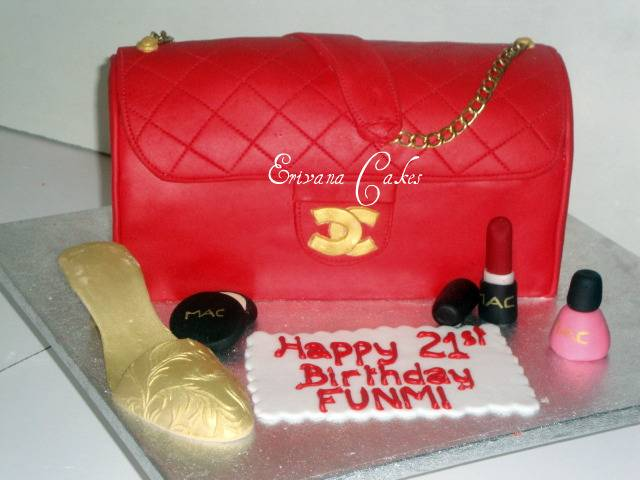 Red Chanel bag cake(SP043)