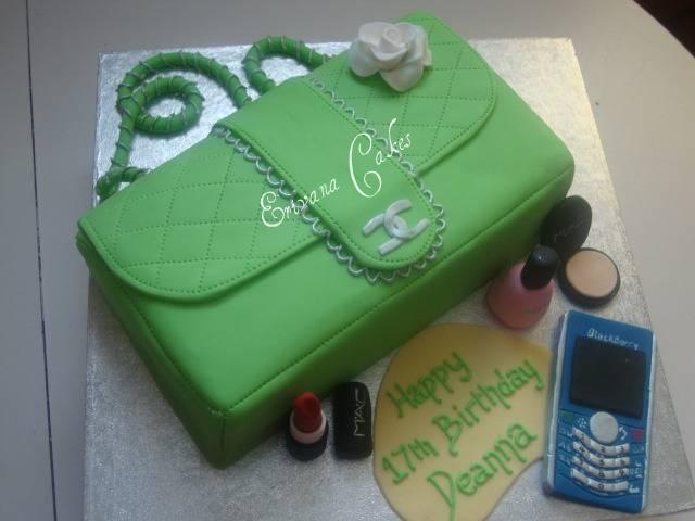 Green Chanel bag Cake(SP044)