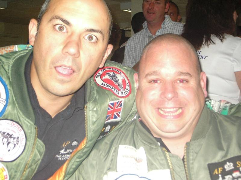 Rappo & Marshy at Solent Cougars Scooter Rally