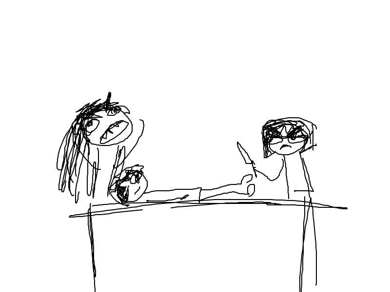 Blaze and Yuki Arguing Over Dinner.